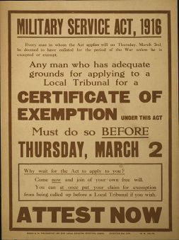 Poster_Military_Service_Act_1916_Attest_Now