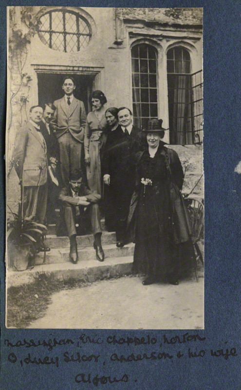 NPG Ax140544; Lady Ottoline Morrell with friends possibly by Philip Edward Morrell