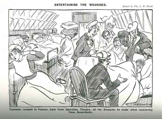 SAMH Cartoon Entertaining the wounded.sprinngbok blue 1.june 1917_p58