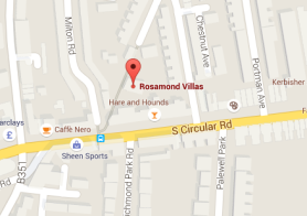 Map Rosamond Villas